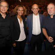 מימין: פרופ' יורם דנציגר, פרופ' יוסף קלפטר, השופטת אדנקו ונשיא אגודת הידידים אמנון דיק