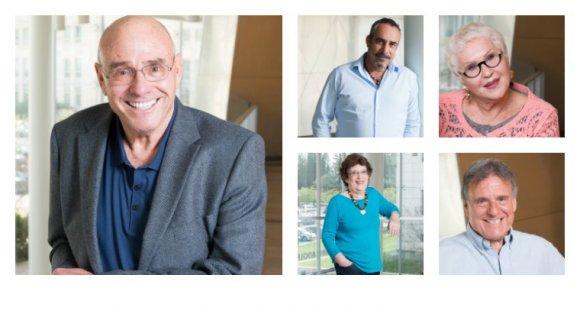 תורמי הקמפיין גבי דוד, רמי שלמור. צ'יריצ' קסביאן, לילי פייזר ודורון הלפרן